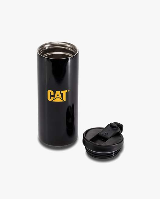 כוס טרמית פלדת אל חלד - Caterpillar Insulated Steel Mug Black : image 1